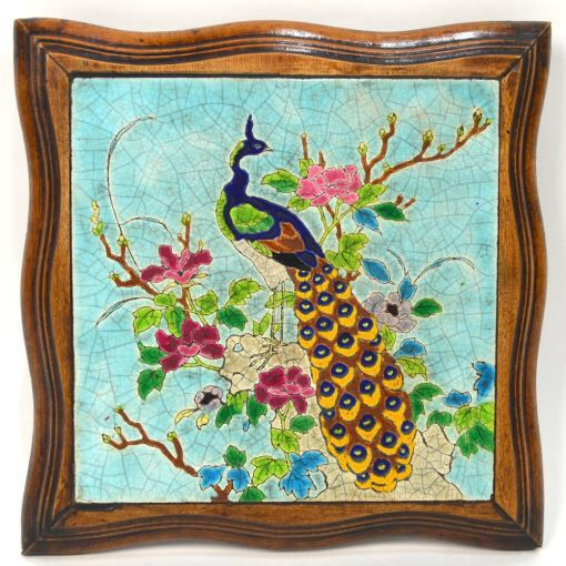 Victorian Hand Miniature Painted Tiles Framed