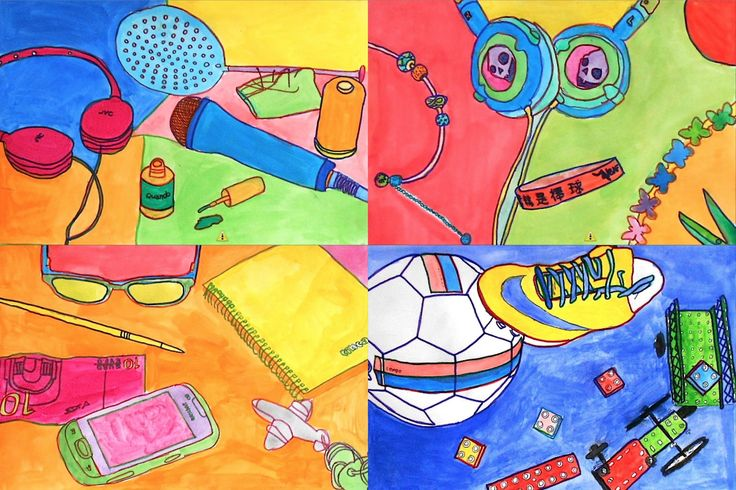 Watercolors inspired by Michael Craig-Martin