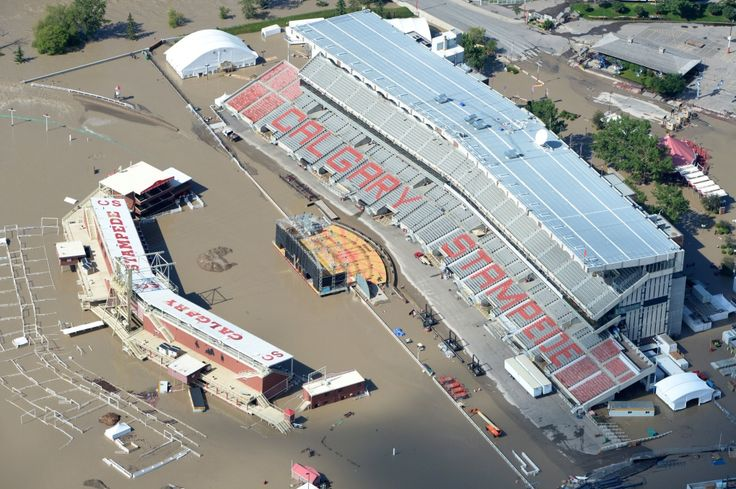 Extreme Flooding Hits Alberta--- The Calgary Stampede grounds are immersed in water during heavy flooding in Calgary, Saturday June 22, 2013.