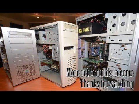 Awesome Year 2000 3DFX Retro Gaming PC build - Voodoo 5 5500, Pentium II...