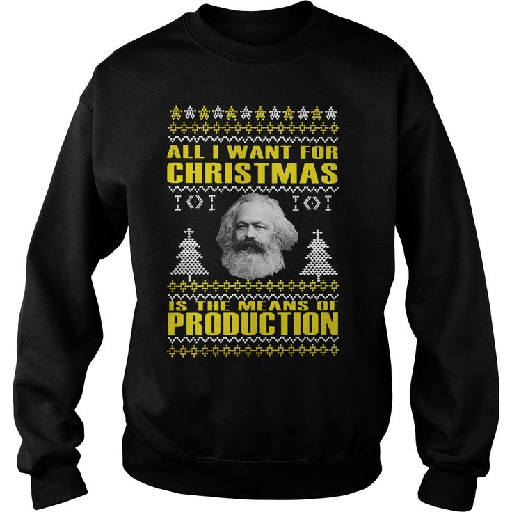 Karl Marx All I Want For Christmas Is The Means Of Production Sweater, Hoodie, Longsleeve T-Shirt   Karl Marx All I Want For Christmas Is The Means Of Production Sweater is a awesome shirt about topic Karl Marx All I Want For Christmas Is The Means Of Productionthat our team designed for you. LIMITED EDITION with many style as hoodie, longsleeve tee, v-neck, tank-top, sweater, youth tee, sweat shirt. This shirt has different color and size, click button bellow to grab it.