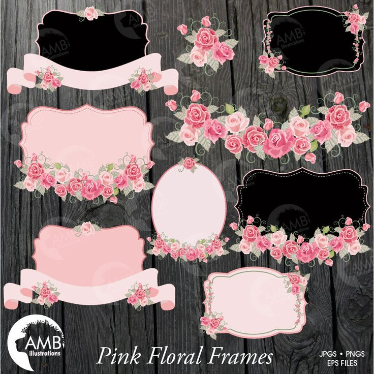Floral Frames And Tags Clipart Wedding Shabby
