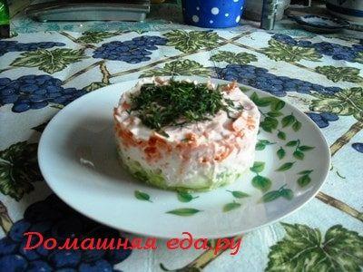 Салат из зелёной редьки с куриной грудкой