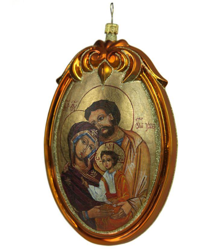 Ikona malowana na bombce'' Święta Rodzina''