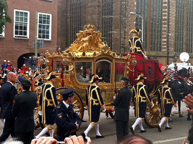 Gouden Koets in the Hague at 'Prinsjesdag' The opening-day of Dutch parliament.