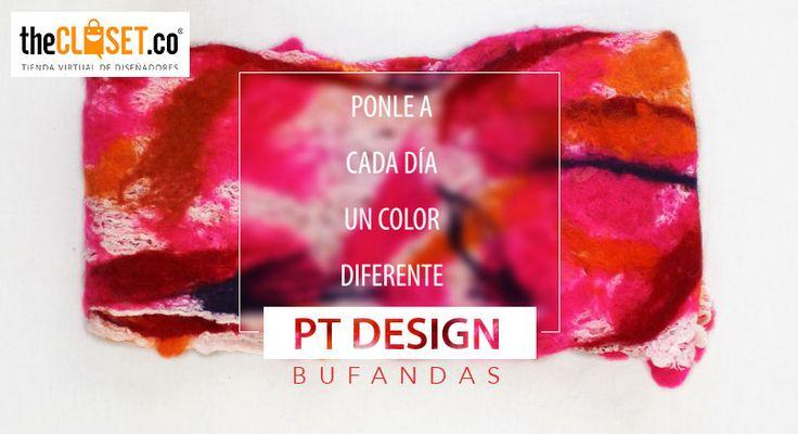 Llena de color tus outfits de cada día con estas bufandas de la marca PT Design #RedDeDiseñadores