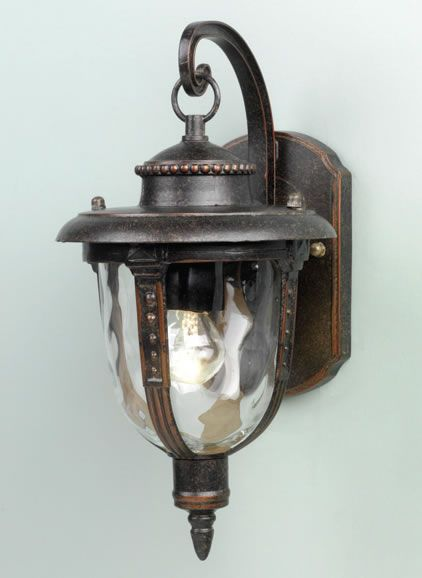 Weathered bronze outdoor wall lantern