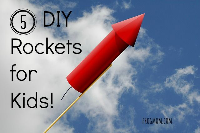 To celebrate your national day with a bang, make these DIY rockets for kids and enjoy some outdoor fun launching them into the sky!