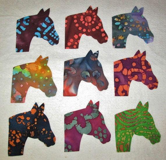Set of 9  Horse Head Quilting Clothing by MarsyesAppliquesPlus, $10.95