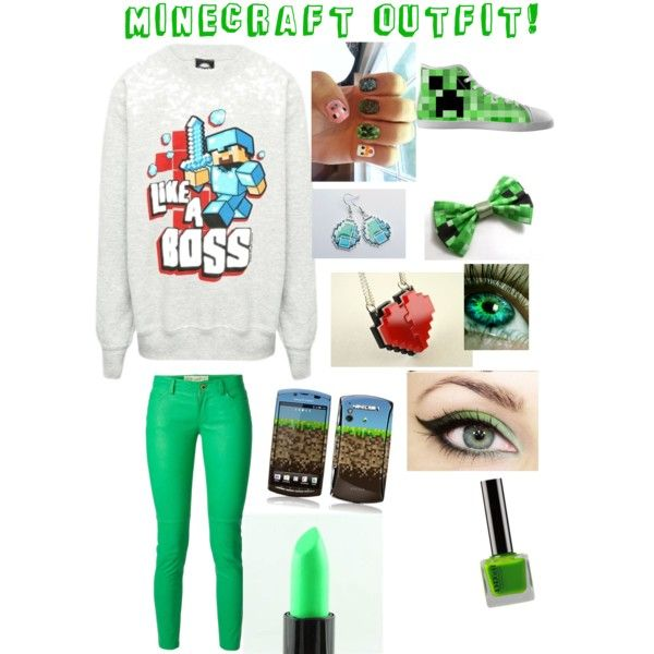 Minecraft outfit! by allynewman12 on Polyvore featuring polyvore, fashion, style, MICHAEL Michael Kors and Sony