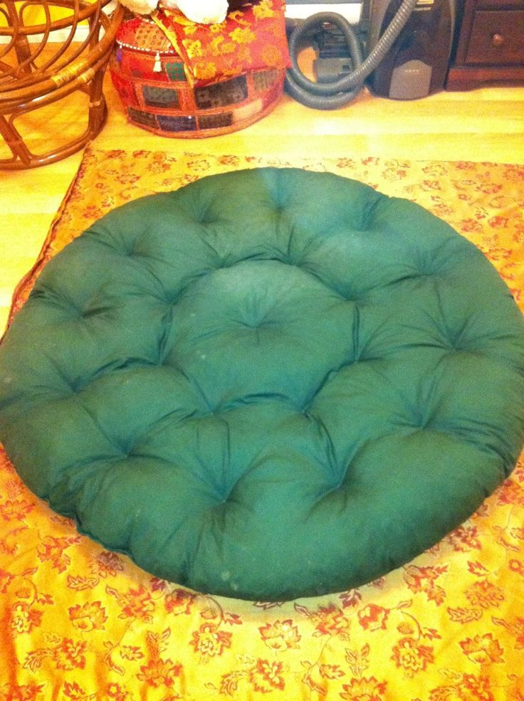 You make it...He breaks it: otherwise known as DIY for boys: Papasan Cushion Cover