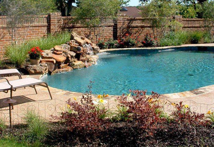 8 Best Images About Pool Waterfall Ideas On Pinterest Pool Waterfall Fire Pits And Planters