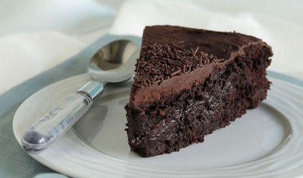 Υγρό κέικ σοκολάτας νηστίσιμο