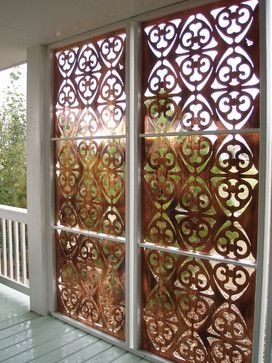 Parasoleil patterns - eclectic - all-weather privacy screen for porch, deck, & patio