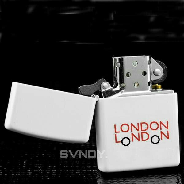 London Bus Zippo White Matte