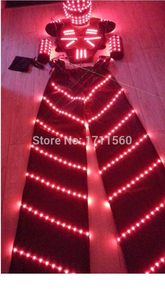 LED Costume /LED Clothing/LED Light suits/ The robot around the refund/ Alexander robot suit
