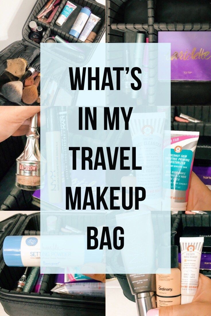 42630d36fa74 What I Pack In My Travel Makeup Bag // packing list makeup, travel beauty  products