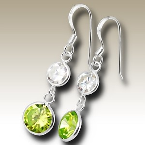 Rounds Cubic Zirconia stone earings - Finishing: Hand polished 925 Sterling silver+E-coat 925 Sterling silver Design from Bangkok925.com  Dimensions:  2cm.  nice Silver CZ Earrings at $6.01