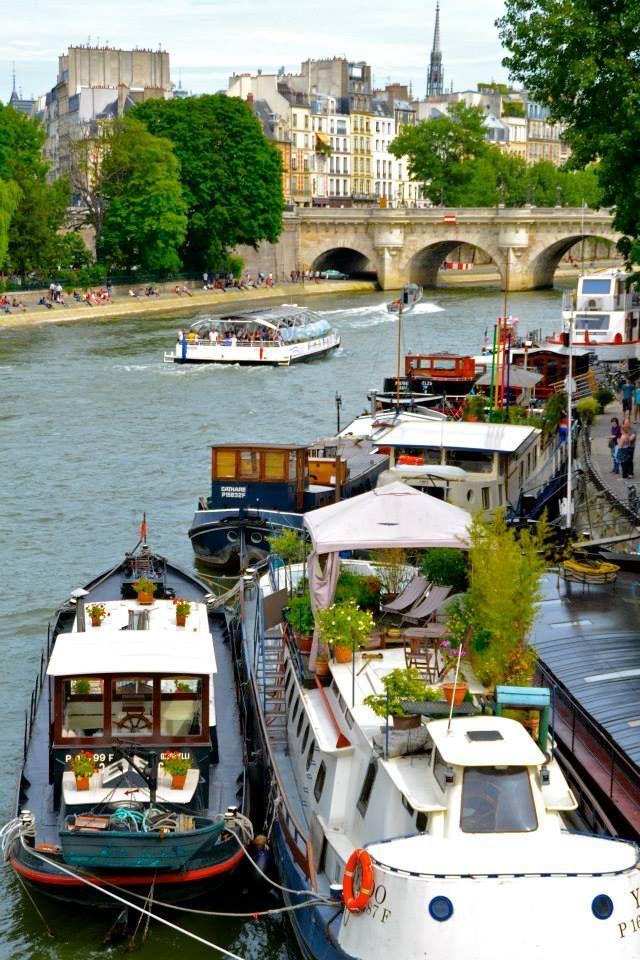 Douce France..., pariisi: Jardins sur Seine… by J'aime...