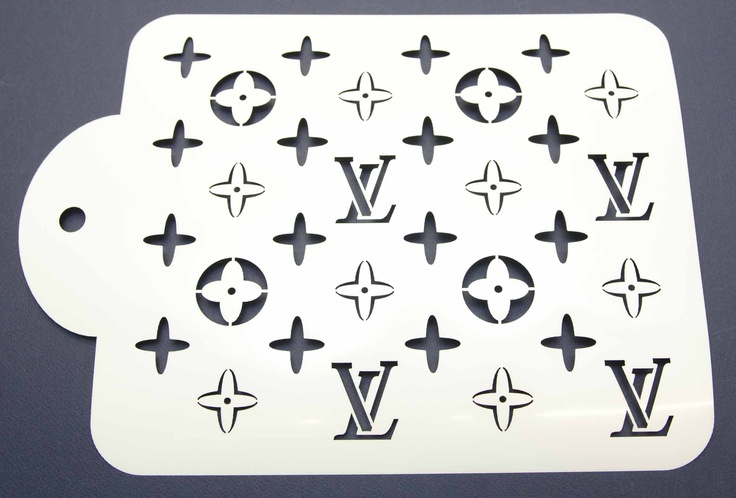 Designer Louis Vuitton Cake Decorating Stencil www.lollipopcakesupplies.com.au
