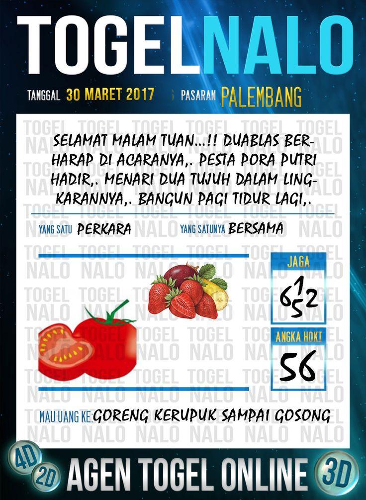 Kode Wangsit 2D Togel Wap Online TogelNalo Palembang 30 Maret 2017