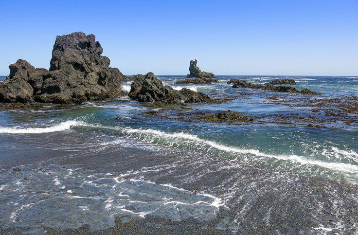 En la costa de Chiloé cerca de las pingüineras de Puñihuil. Región de Los Lagos. Chile