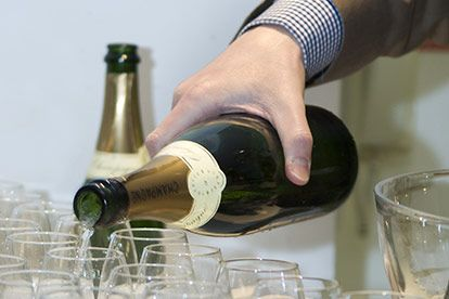 laithwaite's wine tasting evening with champagne and crystal flutes for two