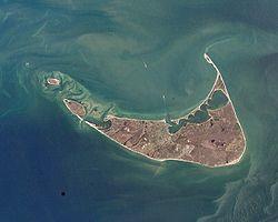 nantucket massachusetts | NASA satellite Image of Nantucket Island