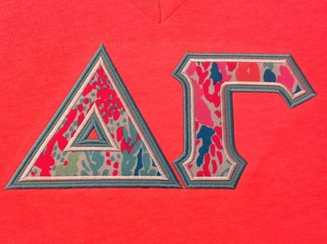 ready to ship greek letter shirt delta gamma