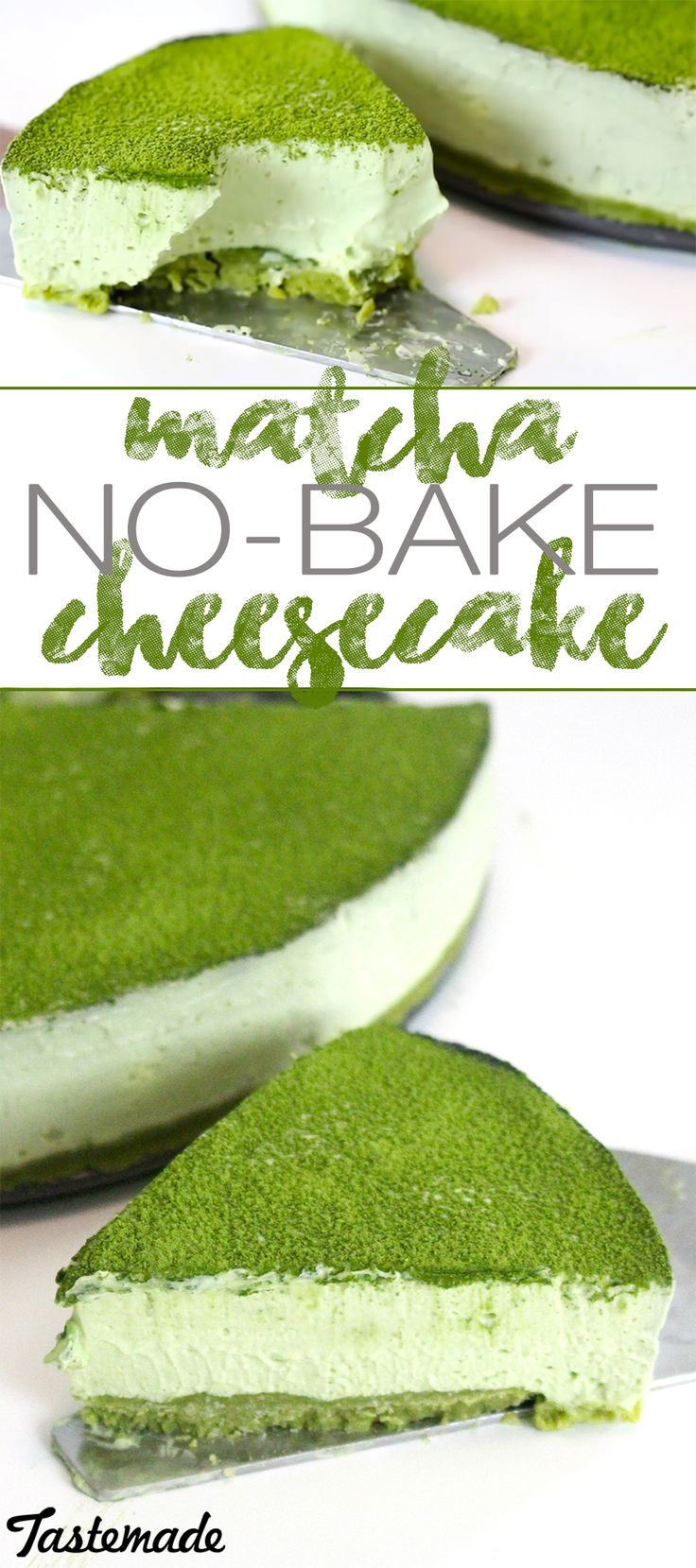 Loaded with green tea goodness, this creamy cheesecake doesn't even need an oven!