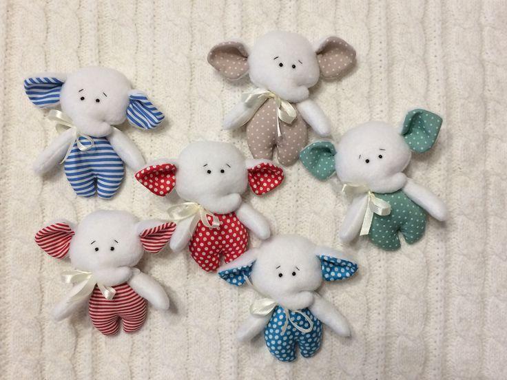 #Little elephants #TEXTILE TOYS # PRIMITS#Toy elephant