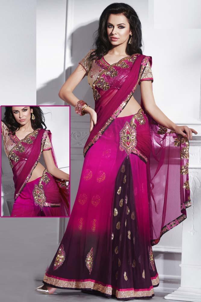 Amazing Kalidar Style Lehenga Sari Item code : SMN2213  http://www.bharatplaza.com/new-arrivals/sarees/amazing-kalidar-style-lehenga-sari-smn2213.html https://www.facebook.com/bharatplazaportal https://twitter.com/bharat_plaza