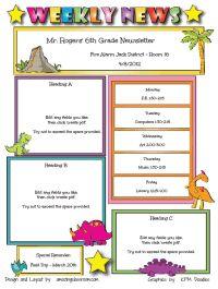 newsletter for preschool parents template - pacq.co