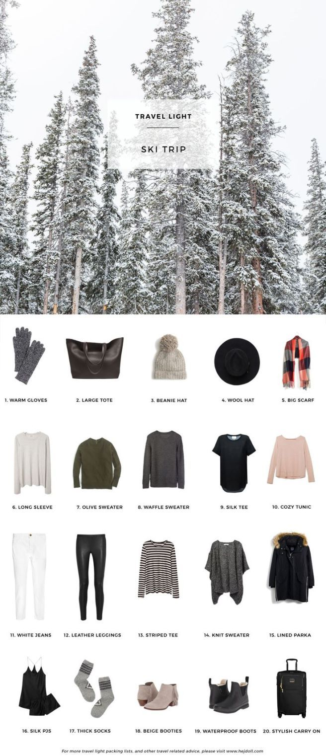 how to pack for a winter getaway. winter travel capsule