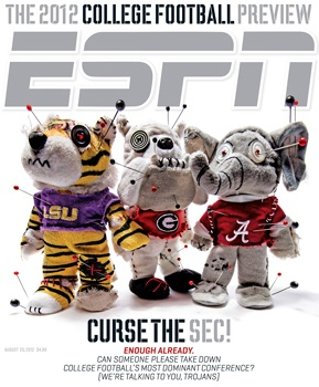 Yet another good cover by ESPN, the theme of the page runs perfectly together, its a little funny too.