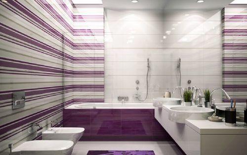 Purple Bathroom Decorating Ideas Pictures #ModernBathroom #MinimalistBathroom #ModernInterior #MinimalistInterior