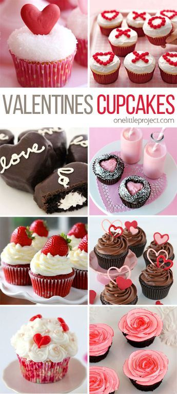 35+ Valentine's Day Cupcake Ideas - This collection is completely ADORABLE! There's something for every skill level, no matter how much time you have!