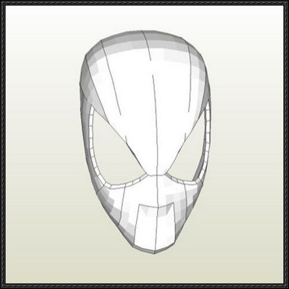 Spider-Man - Faceshell Mask Papercraft Free Download ...