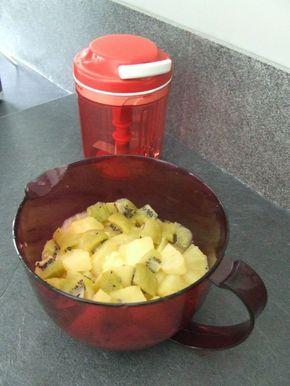 Compote pommes kiwis au micro ondes