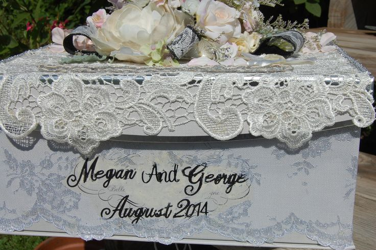 A Classic looking wedding deserves a  classically designed Wedding Card Box ~ store a lifetime of beautiful memories!