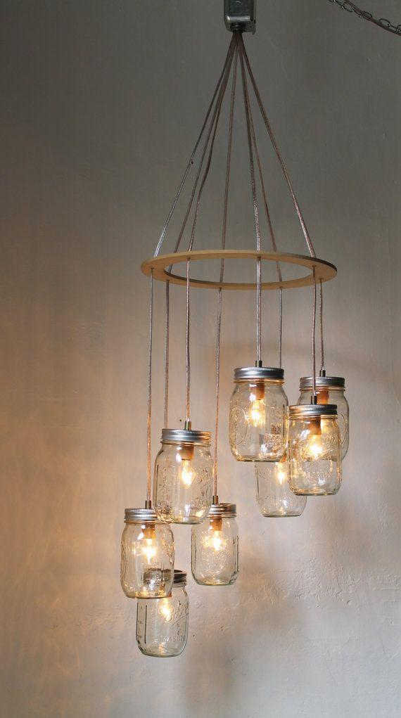 mason jar lighting ideas.  lighting heart shaped mason jar chandelier light romantic by bootsngus 20000 to lighting ideas n