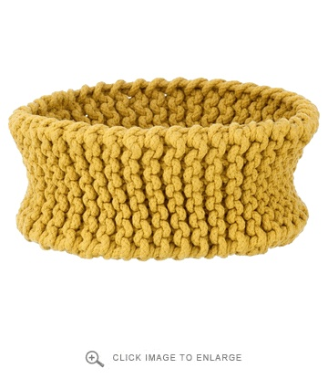 Ferm Living Knitted Basket Yellow Medium