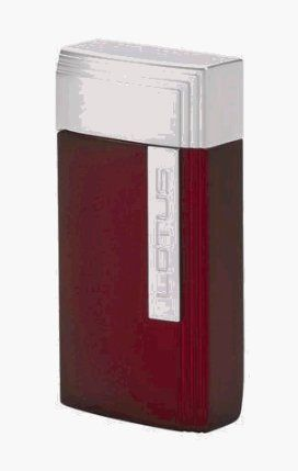 Lotus L16 Red Silk / Chrome Torch Flame Windproof Lighter with Built-in Cutter by Lotus. $47.96. L16 Red Silk / Chrome The wind-resistant torch flame of the L16 is powered by an electro-quartz ignition. A fuel level window and guillotine cutter are integrated into the metal case. All Lotus lighters are backed by a two year warranty. All Lotus lighters are backed by a two year warranty.