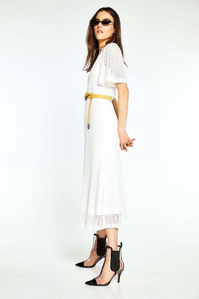 Vestido midi encaje - SFERA