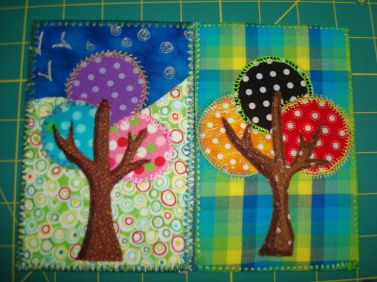 Fabric Postcards   Sewing Ideas   Project on Craftsy: fabric postcards