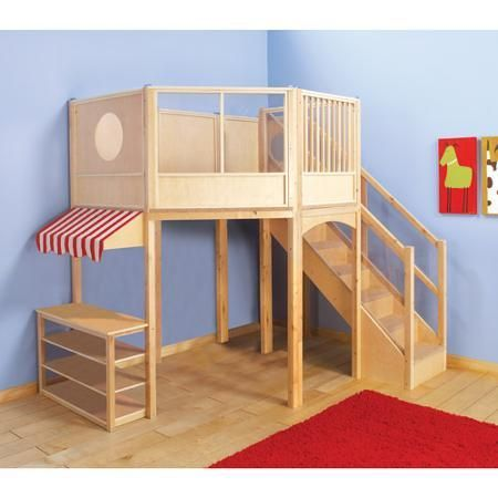Guidecraft Market Loft G97045 Kids Bedroom Bunk Beds