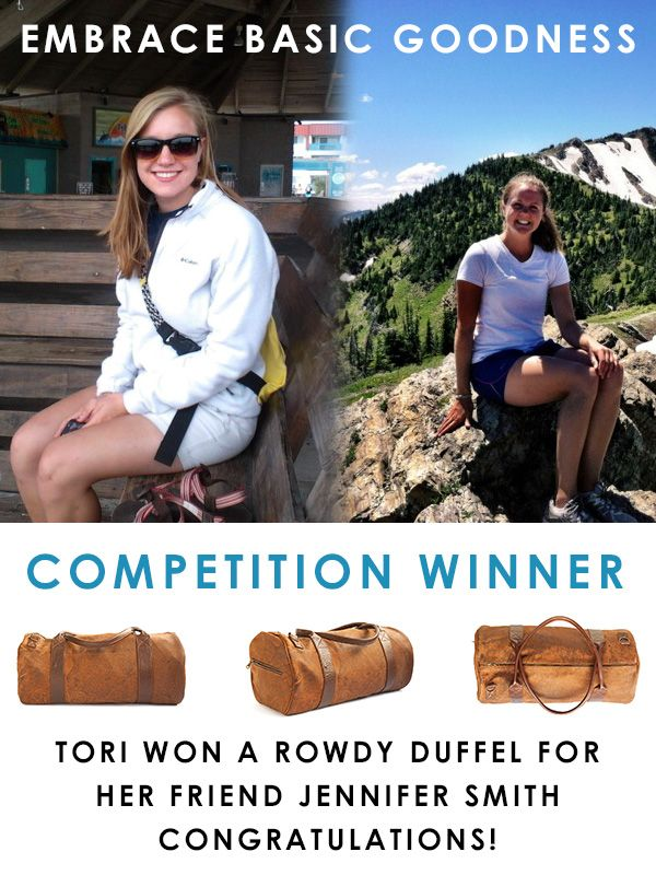 We received some unbelievable stories about your friends and family who EMBRACE BASIC GOODNESS and we'd like to say THANK YOU to everyone who entered. :)  There can only be one winner (well, two actually :P ). We'd like to congratulate Tori Mansell for winning a ROWDY Corsica Duffel bag for her deserving friend Jennifer. But we'd especially like to congratulate Jennifer Smith for always embracing basic goodness and we hope our trusty traveller helps you PACK FOR CHANGE on your charitable…