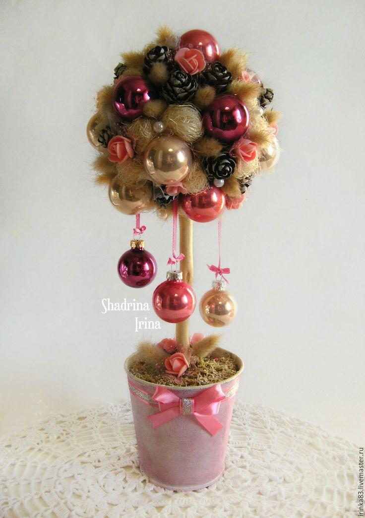 """Купить Новогодний топиарий """"Нежность"""" - Новый Год, подарки к праздникам, подарки на новый год, топиарий, нежность"""