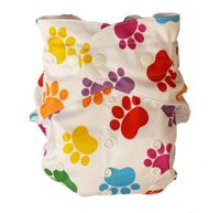 Baby BeeHinds Multi-Fit in Paw Print Palette