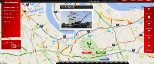 Google Maps Mania: The Couch Runners London Marathon Map